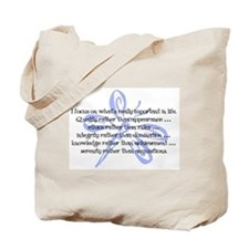 Important in Life Tote Bag