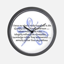 Important in Life Wall Clock