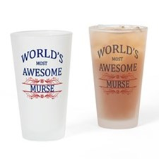 World's Most Awesome Murse Drinking Glass