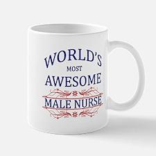 World's Most Awesome Male Nurse Small Small Mug