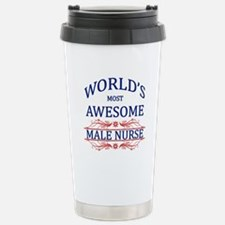World's Most Awesome Male Nurse Stainless Steel Tr
