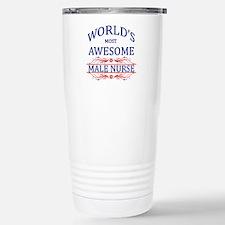 World's Most Awesome Male Nurse Travel Mug