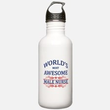 World's Most Awesome Male Nurse Water Bottle