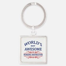 World's Most Awesome Nursing Instructor Square Key