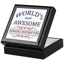 World's Most Awesome Nursing Instructor Keepsake B