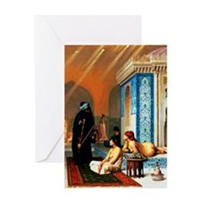 Gerome - Pool in a Harem Greeting Card