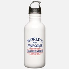 World's Most Awesome Hospice Nurse Water Bottle