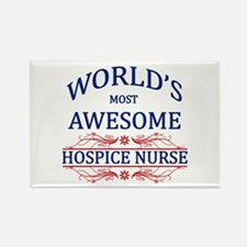 World's Most Awesome Hospice Nurse Rectangle Magne