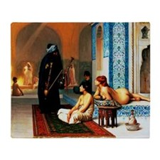 Gerome - Pool in a Harem Throw Blanket