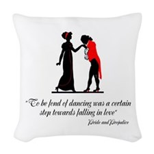 Fond of Dancing Woven Throw Pillow