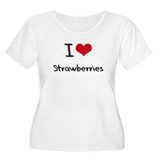 I love Strawberries Plus Size T-Shirt