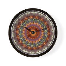 Natural Earth Mandala Wall Clock