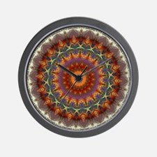 Natural Earth Mandala Wall Clock