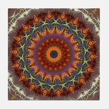 Natural Earth Mandala Tile Coaster