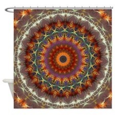 Natural Earth Mandala Shower Curtain