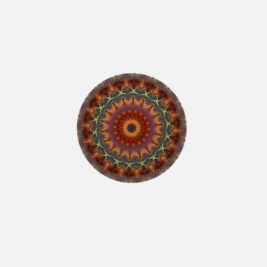 Natural Earth Mandala Mini Button