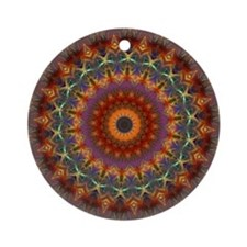 Natural Earth Mandala Ornament (Round)