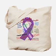 Cancer Suck Suck Sucks Purple Tote Bag