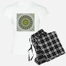 Green Earth Mandala Kaleidoscope pattern pajamas