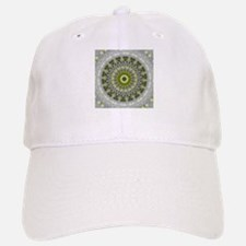 Green Earth Mandala Kaleidoscope pattern Baseball Baseball Cap