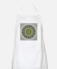 Green Earth Mandala Kaleidoscope pattern Apron