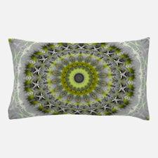 Green Earth Mandala Kaleidoscope pattern Pillow Ca