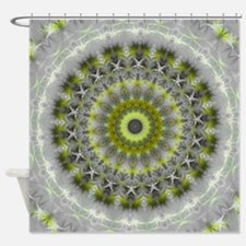 Green Earth Mandala Kaleidoscope pattern Shower Cu