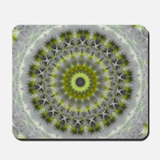 Green Earth Mandala Kaleidoscope pattern Mousepad