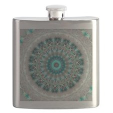 Blue Earth Mandala Flask