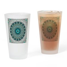 Blue Earth Mandala Drinking Glass