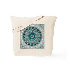 Blue Earth Mandala Tote Bag