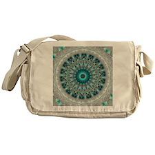 Blue Earth Mandala Messenger Bag