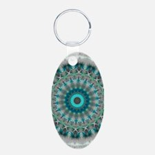 Blue Earth Mandala Keychains