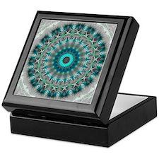 Blue Earth Mandala Keepsake Box