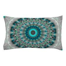 Blue Earth Mandala Pillow Case