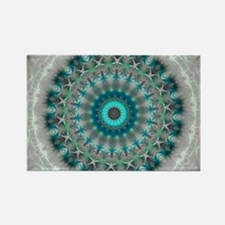Blue Earth Mandala Rectangle Magnet