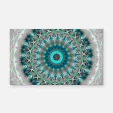 Blue Earth Mandala Rectangle Car Magnet