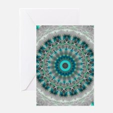 Blue Earth Mandala Greeting Card