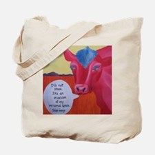 """Cool Cow"" Cotton Tote Bag"