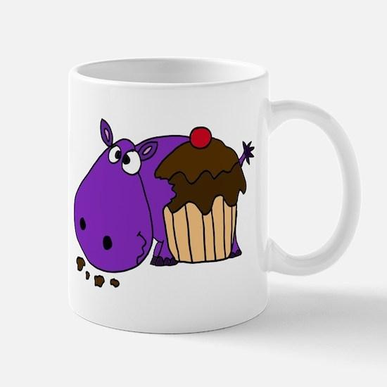 Hippo Eating Cupcake Mug