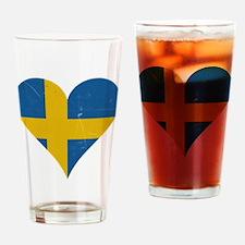 Sweden heart Drinking Glass