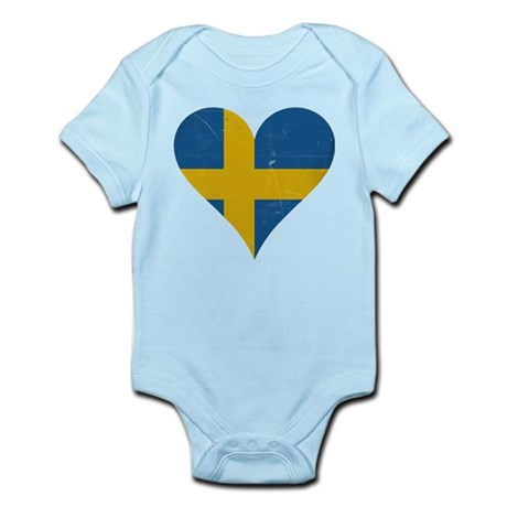 Sweden heart Body Suit