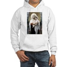 Madona with roses Bouguereau Hoodie