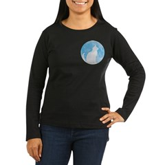 First Cat on the Moon! Women's Long Sleeve Dark T-