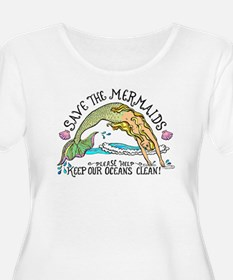 Save the Mermaids Plus Size T-Shirt