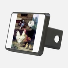 Rooster chicks and pigeons Hitch Cover