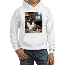 Rooster chicks and pigeons Hoodie