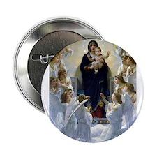 "Regina Angelorum Bouguereau 2.25"" Button"