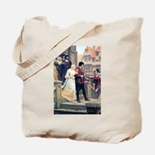 Medieval church wedding painting Tote Bag