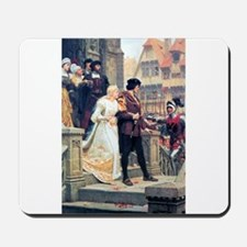 Medieval church wedding painting Mousepad
